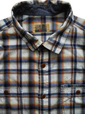 Мужская рубашка в клетку цветная сочная Marks & Spencer XL