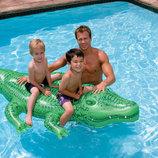 INTEX 58562 203X114 См. Детский Надувной Плотик Крокодил Двухместный