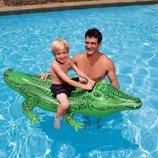 INTEX 58546 168Х86 См. Детский Надувной Плотик Крокодил Одноместный