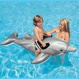 INTEX 58535 201X76 См. Детский Надувной Плотик Дельфин