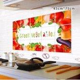 Наклейка декоративная на стену, фартук кухни, технику, мебель. Декор овощной