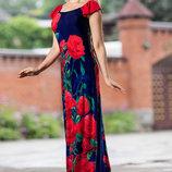 Яркое летнее платье в пол 634