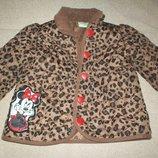 Легкая стеганная куртка Дисней 12-18мес