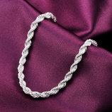 Шикарный серебряный браслет на руку 925 проба. Серебро.