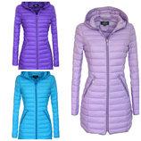 Женская весенняя стеганая удлиненная куртка пальто