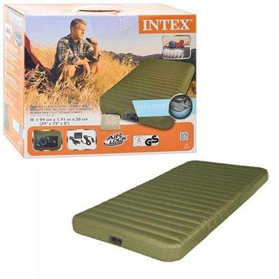 Надувная Односпальная Кровать INTEX 68727 99-191-20 См. Встроенный Насос 12W/USB