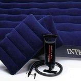 INTEX 68765 152Х203Х 22 См. Двуспальный Надувной Матрас Ручной Насос И 2 Подушки