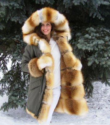 Парка на меху из лисы 5 в 1  14000 грн - зимняя верхняя одежа в ... 2d8acb71743