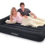 Двуспальная надувная кровать с Подголовником INTEX 66781 152Х203Х30 См. Встроенный Насос 220V.