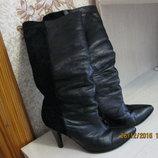 Продам зимові шкіряні чоботи 39розмір