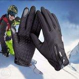 Зимние велоперчатки Windstopper, непромокаемые,непродуваемые, зимние перчатки