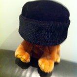 Нарядная. Шапочка-Шляпа из натурального бархата