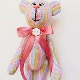 Нежный мишка тильда, оригинальный подарок на день Святого Валентина 8 Марта дочке девушке игрушка