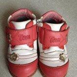 Кожаные ботинки р.21 -13 см б/у