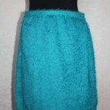 Бирюзовая юбка-травка Zara