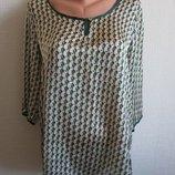 Шифоновая блузка с небольшим атласным блеском menglu fashion, размер M-L
