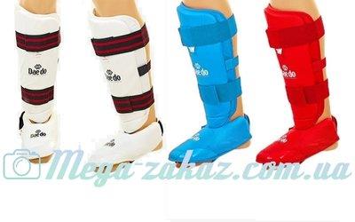Защита голени с футами для единоборств DAEDO 5074 3 цвета, S/M/L/XL