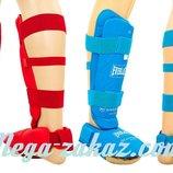 Защита голени с футами для единоборств ELAST 3958 размер S-XL 2 цвета