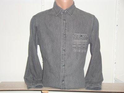 Мужская джинсовая рубашка с длинным рукавом Mossimo.