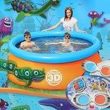 Надувной семейный бассейн с 3D рисунком 213 x 66 cм BestWay 57244