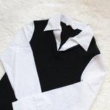 Кофта рубашка,рубашка с жилеткой, белая рубашка