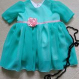 Нарядные платья для девочек мята