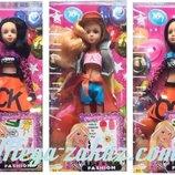 Кукла барби шарнирная Тату 2173, 3 вида татуировки расческа в комплекте