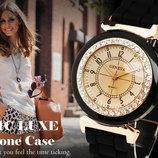 супер цена Модные женские часы Geneva Disu со стразами