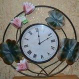 Часы настенные Лилия металл