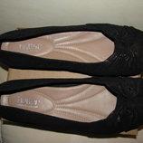 Балетки брендові шкіряні нові Hotter Comfort concept Оригінал Англія р.9 стелька 27,5 см