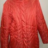 р XL Bonita яркая теплая куртка большой размер состояние идеальное