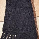 Синий вязанный шарф 217х18 см от Takko fashion Германия
