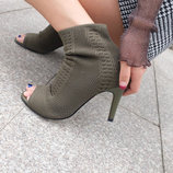 Ботильоны на каблуке с открытым носком New Look