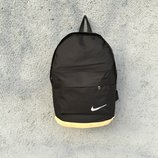Мужской рюкзак найк Nike черный бежевый кожаное дно