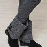 валенки Chanel из натуральной замши/шерсти полусапожки
