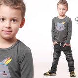 Джемпер реглан футболка для мальчика волк