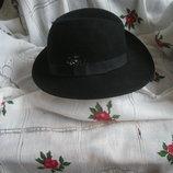 Супер шляпа англия,100%шерсть,объем головы-56см.