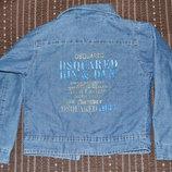 жакет,пиджак джинсовый на 4-6 лет