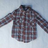 Стильная рубашка в клетку на 1,5-2,5 годика