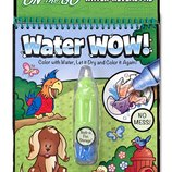 Melissa&Doug Многоразовая водная раскраска изучаем Животных On the Go Water Wow Animals Book