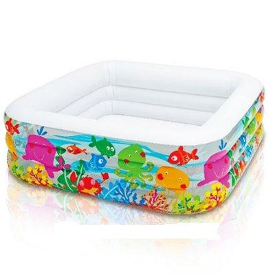 Надувной бассейн для детей Аквариум INTEX 57471