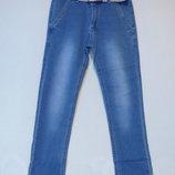 Голубые весенние стрейчевые джинсы для мальчика