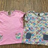 Набор футболочек Next c кармашками на девочку 5-6 лет.