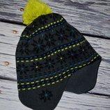 Обалденная яркая фирменная шапка шапочка 2 - 5 лет . Двойня, подклад флис