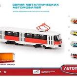Трамвай инерционный Автопром 6411