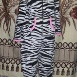 Фирменная пижама-слип Зебра кигуруми Love to lounge, M, футужама.