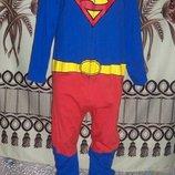 Фирменная пижама-слип Кигуруми Супермэн George, L, футужама, Шри-Ланка.