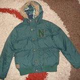 Теплая зимняя куртка Next на синтепоне, рост 140 см,10-11 лет,оригинал