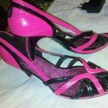 босоножки туфли Deisel р 39 натур кожа лак