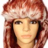Новая зимняя шапка-ушанка ог 58-60